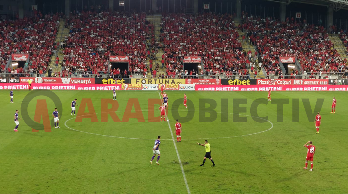 Spectacol total UTA Arad - Rapid Bucuresti 2-2